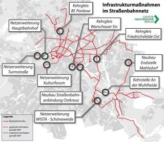 Planungen für Neu- und Ausbaumaßnahmen im Straßenbahnnetz