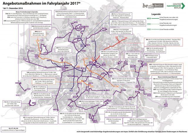 Angebotsmaßnahmen 2017, umgesetzt zum Fahrplanwechsel Dezember 2016